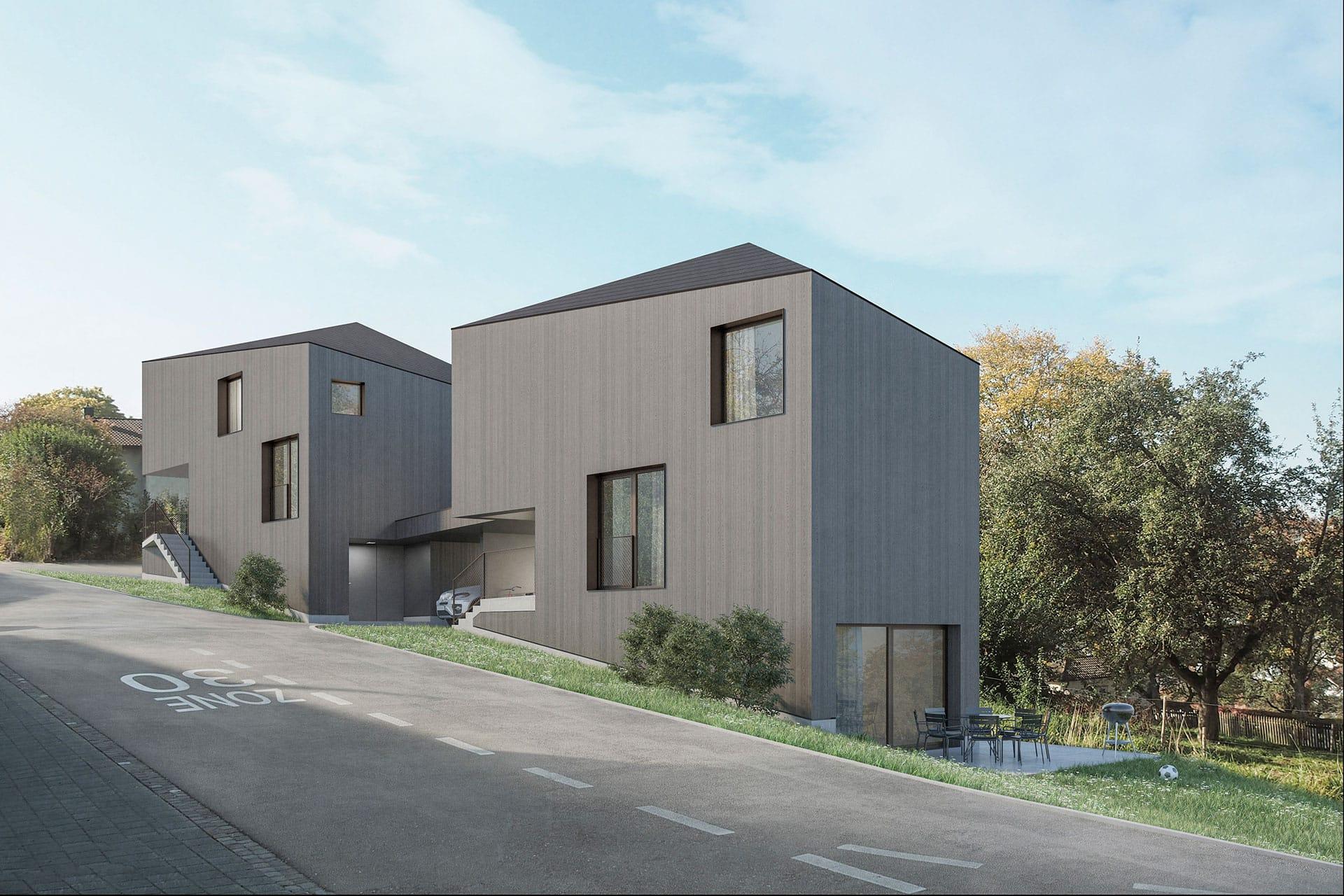 Visualisierung Hochwacht Aussen Single Haus Sirnach