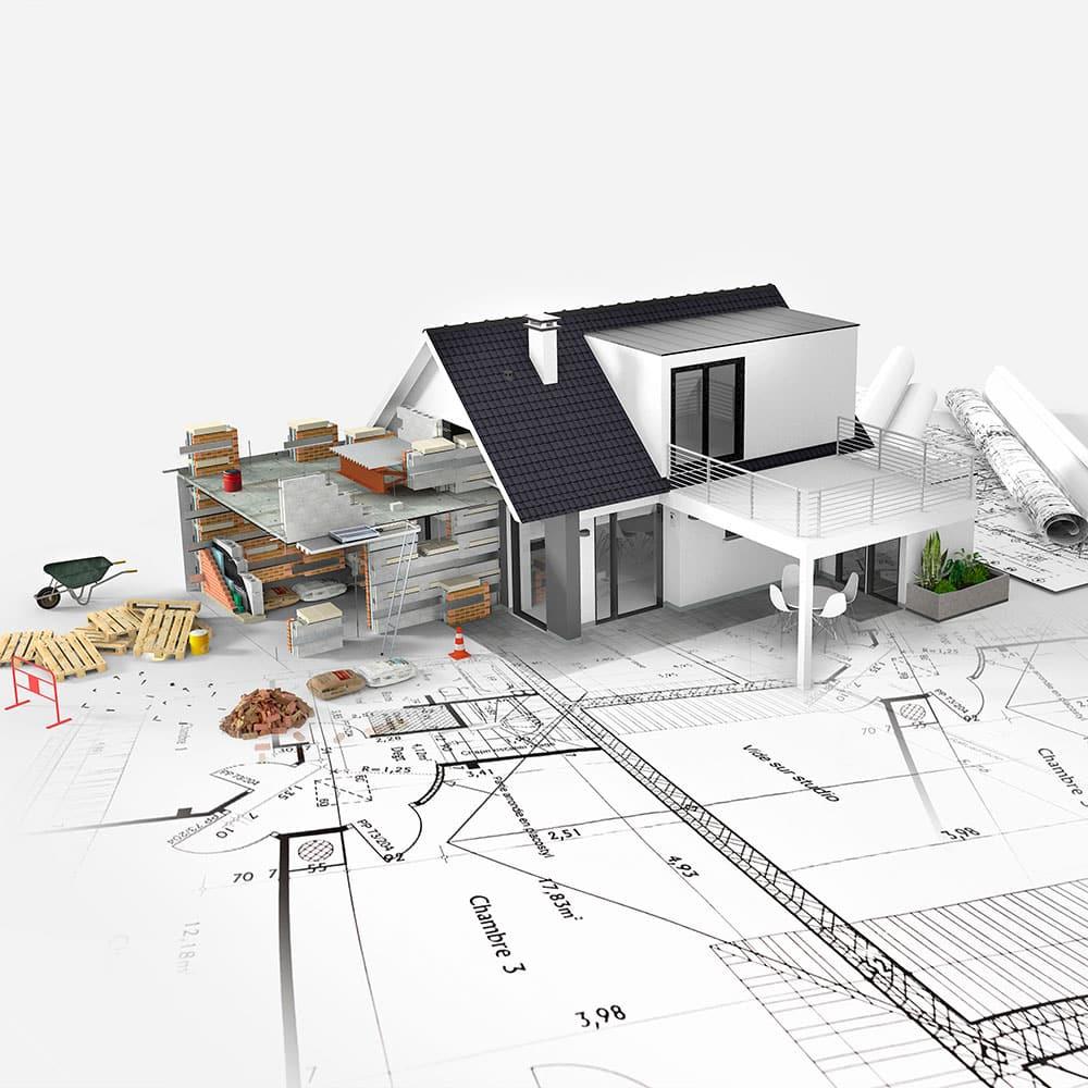 eigentraum.ch immobilie baustelle zeichnung 3d-modell