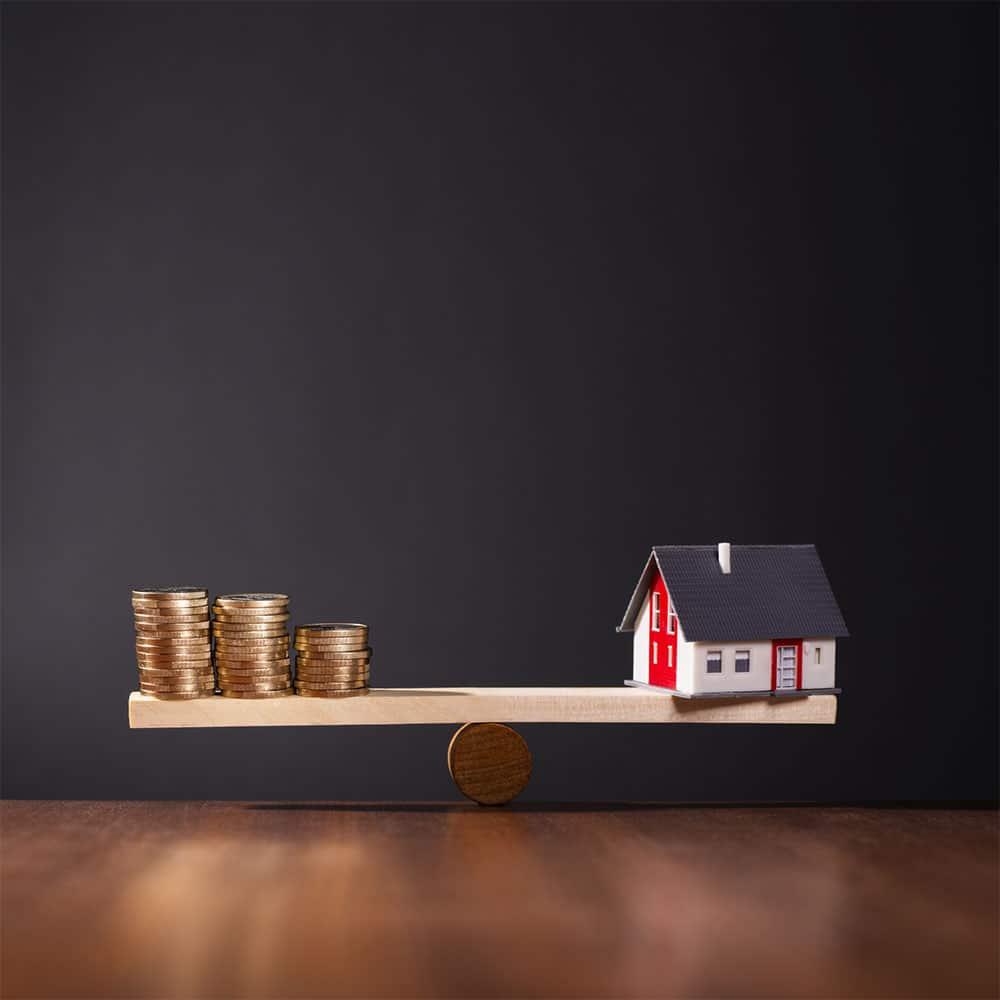 eigenheim finanzierbar geld haus waage eigentraum